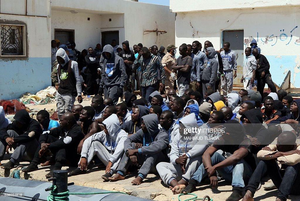 LIBYA-CONFLICT-MIGRANTS : News Photo