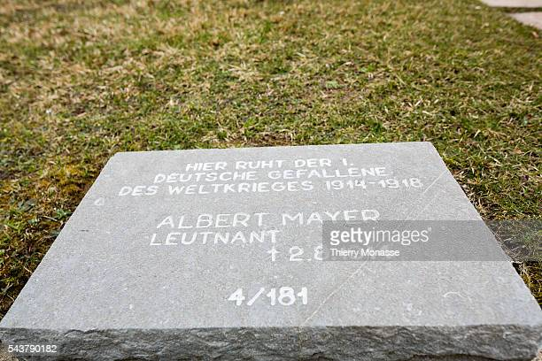 Illfurth Alsace France March 29 2013 The Headstone of Albert Otto Walter MAYER in the German Military cemetery of Illfurth Albert Mayer is the first...