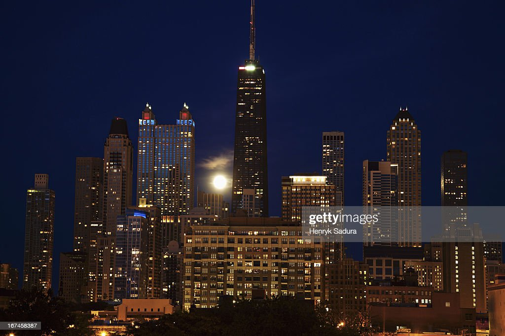 USA, Illinois, Chicago, cityscape : Stock Photo