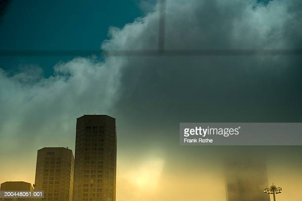 USA, Illinois, Chicago, cityscape, view through car window