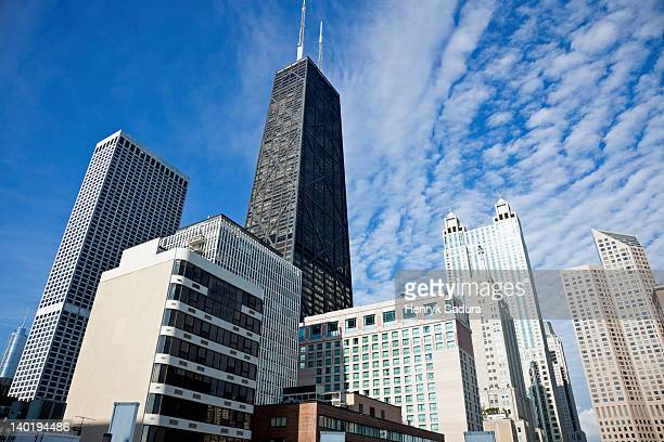 usa, illinois, chicago, hancock building - hancock building chicago stock photos and pictures