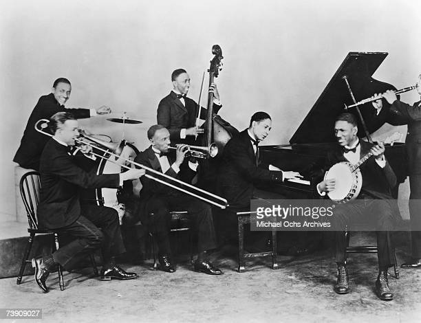1926 Illinois Chicago Jelly Roll Morton and His Red Hot Peppers LR Andrew Hilaire Kid Ory George Mitchell John Lindsay Jelly Roll Morton Johnny St...
