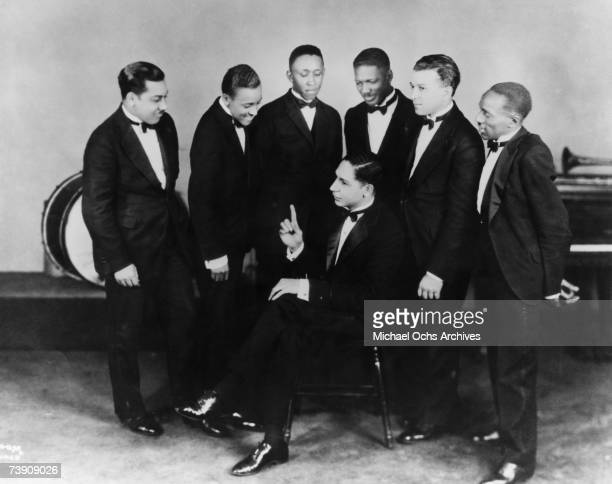 Illinois, Chicago, Jelly Roll Morton and His Red Hot Peppers, L-R: Omer Simeon, Andrew Hilaire, John Lindsay, Jelly Roll Morton , Johnny St. Cyr, Kid...