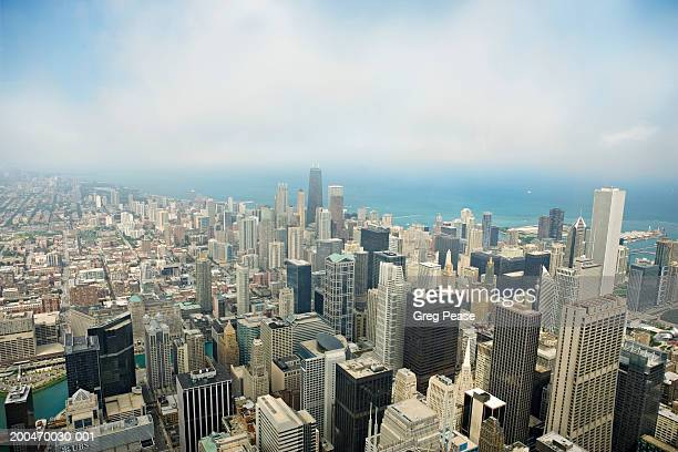 USA, Illinois, Chicago skyline, elevated view