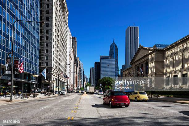 USA, Illinois, Chicago, skyscrapers in downtown