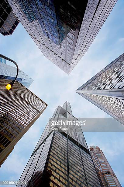 """usa, illinois, chicago, skyscrapers, view from below - """"greg pease"""" stock pictures, royalty-free photos & images"""