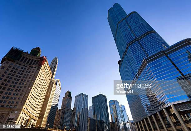 USA, Illinois, Chicago, view to Trump Tower from below