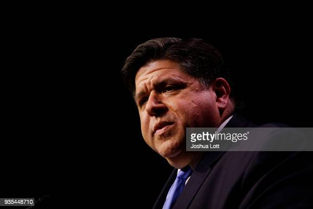 Illinois Democratic candidate for Governor JB Pritzker speaks during his primary election night victory on March 20 2018 in Chicago Illinois Pritzker...