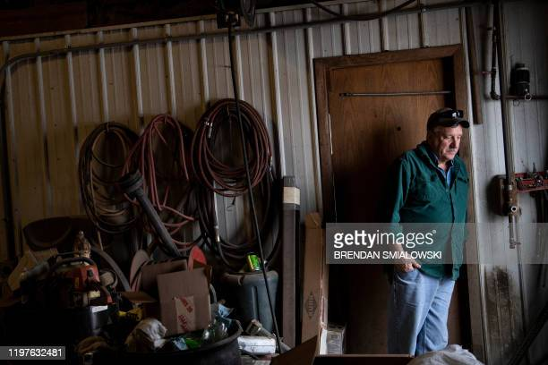 Illinois farmer Brian Duncan leans against the door in his machine shop January 25 in Polo Illinois America is in flux Once stable jobs have become...