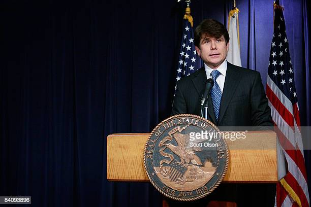 Illinois Governor Rod Blagojevich speaks at his first press conference since his recent arrest December 19 2008 in Chicago Illinois Blagojevich who...