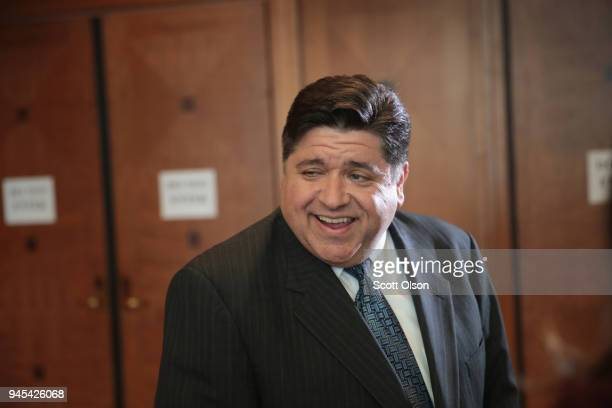 Illinois gubernatorial candidate J.B. Pritzker attends the Idas Legacy Fundraiser Luncheon on April 12, 2018 in Chicago, Illinois. The luncheon helps...