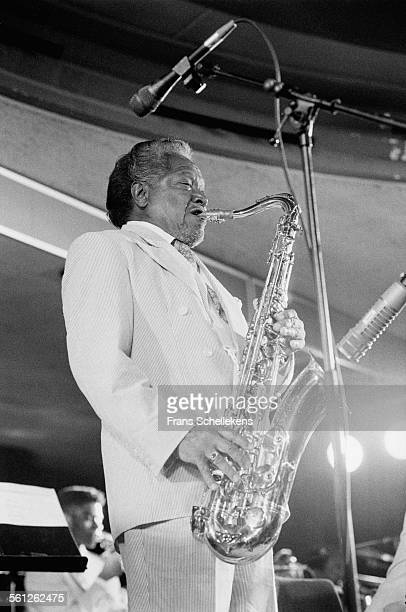 Illinois Jacquet, tenor saxophone, performs on July 9th 1993 at the North Sea Jazz Festival in the Hague, Netherlands.