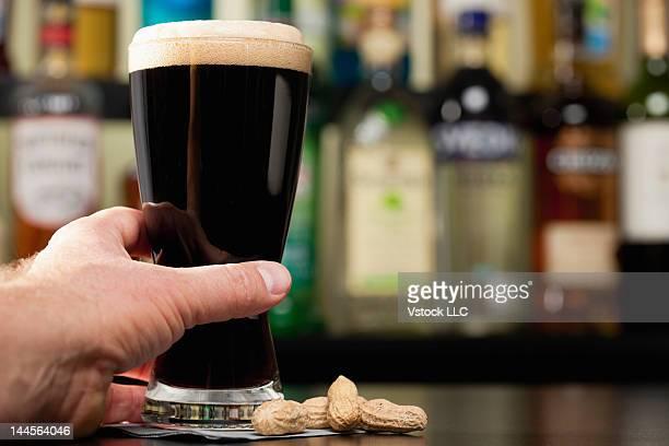 USA, Illinois, Metamora, Beer mug with dark beer