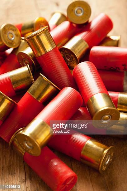 USA, Illinois, Metamora, Close-up of bullets on table