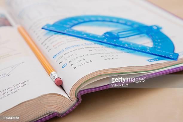 USA, Illinois, Metamora, Maths book