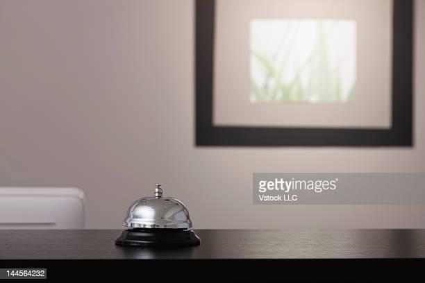 USA, Illinois, Metamora, Service bell on reception desk