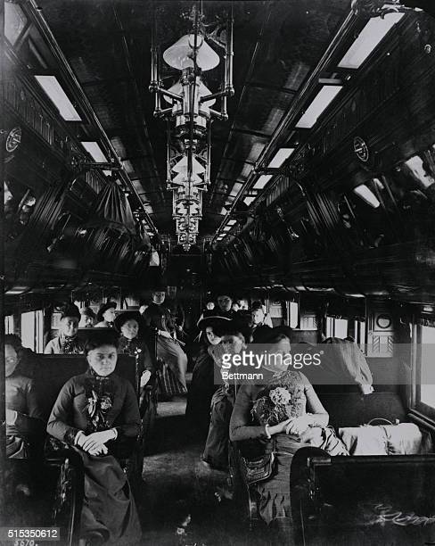 Shown is the interior of the Pullman palace car Holden Undated photograph