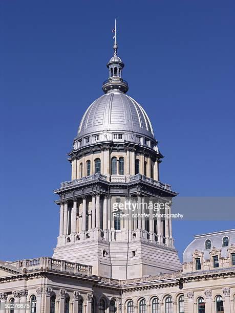 illinois state capitol - kapitell stock-fotos und bilder