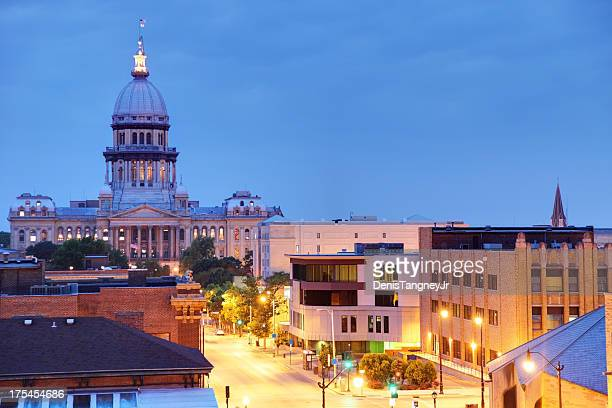 illinois state capitol - illinois stock pictures, royalty-free photos & images