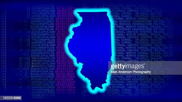 illinois - state with malicious code - electoral college stock pictures, royalty-free photos & images