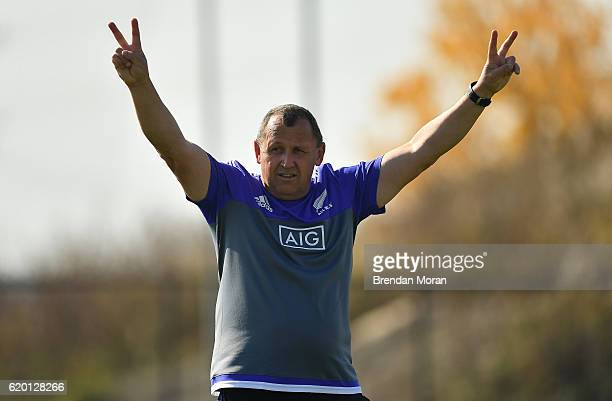 Illinois United States 1 November 2016 New Zealand assistant head coach Ian Foster during a New Zealand Rugby Squad Training at Toyota Park in...