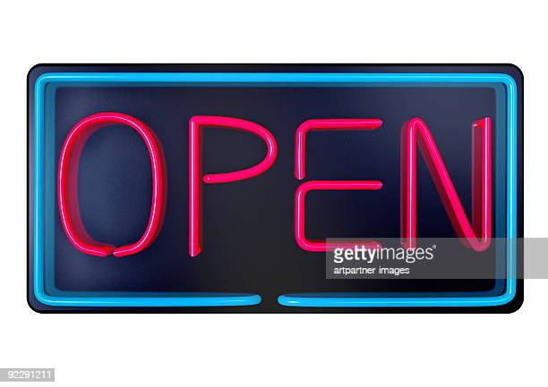 open - illuminated advertising - open for business stock pictures, royalty-free photos & images