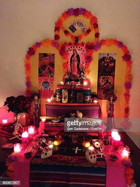 Illuminated Altar At Home