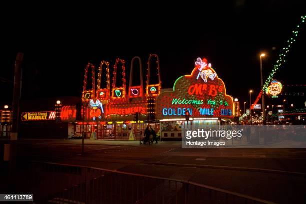 Illuminated amusement arcades Blackpool 1999 Mr B's Golden Mile Centre amusement arcade is shown at night Blackpool is famous for its illuminations...