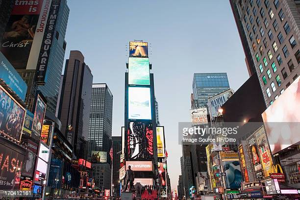 Illuminated billboards in Times Square