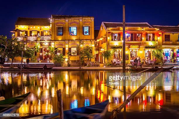 illuminated buildings of Hoi An, Vietnam