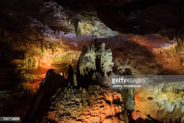 Illuminated cave