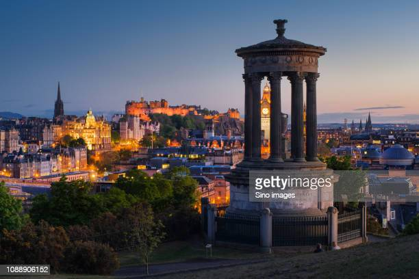 illuminated city at sunset, england, uk - image stock pictures, royalty-free photos & images