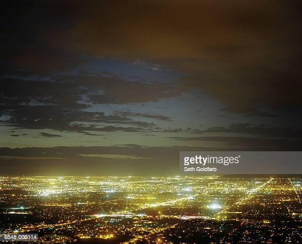 Illuminated Cityscape
