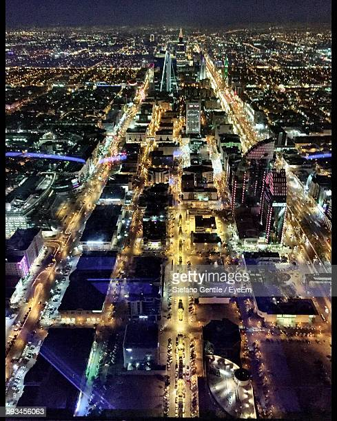Illuminated Cityscape Seen From Kingdom Tower At Night