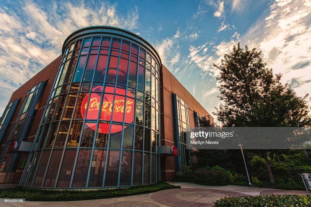 illuminated Coca Cola sign : Stock Photo