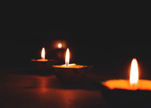 Illuminated Diya - gettyimageskorea