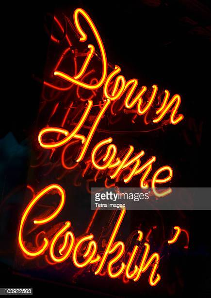 Illuminated Down Home Cookin' sign