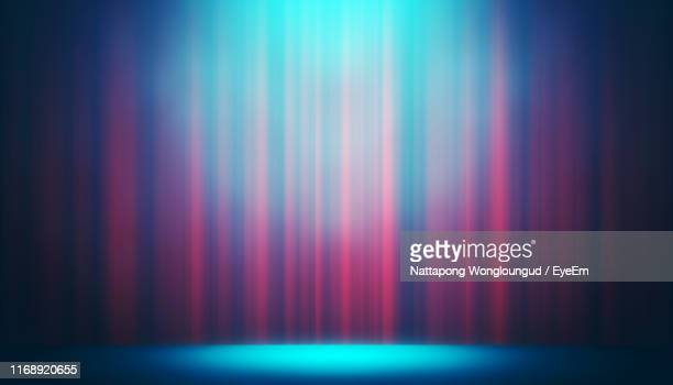 illuminated empty stage - curtain stock pictures, royalty-free photos & images