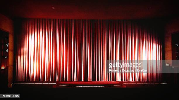 Illuminated Empty Theatre Stage
