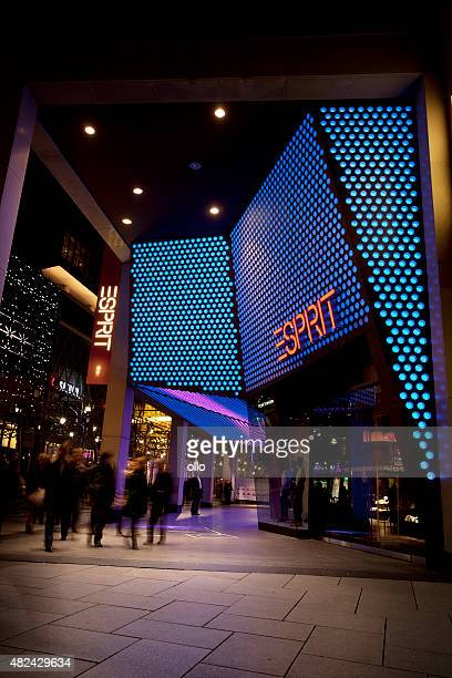 Illuminated Entrance Of Esprit Fashion Shop Frankfurt High ...