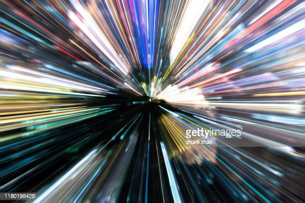 illuminated fiber optics radial pattern - image focus technique stock pictures, royalty-free photos & images