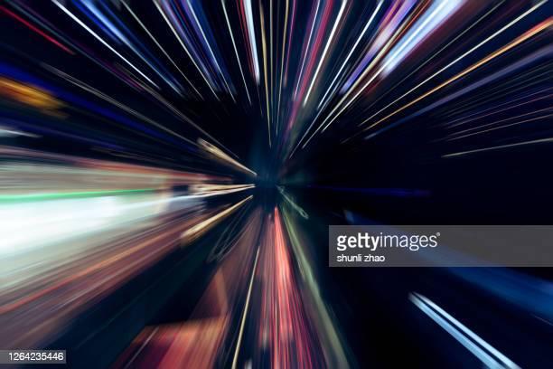 illuminated fiber optics radial pattern - punto di fuga foto e immagini stock