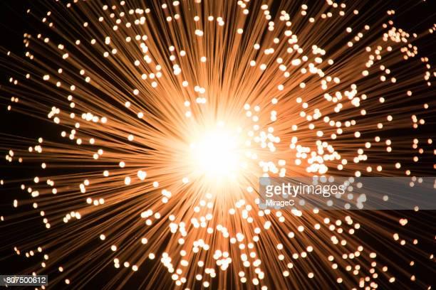 Illuminated Fiber Optics Radial Pattern