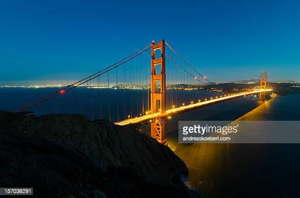Illuminated Golden Gate Bridge