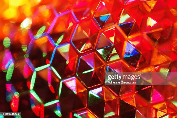 illuminated hexagon pattern - acrylic glass stock pictures, royalty-free photos & images