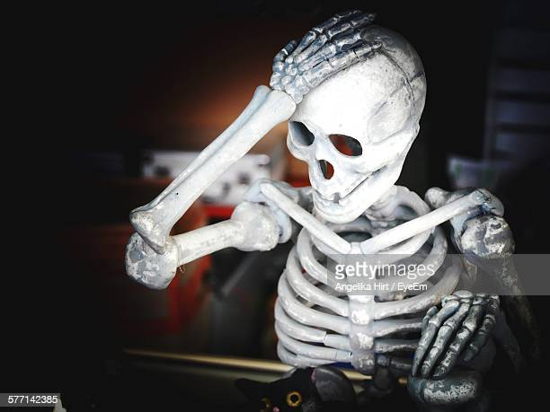 illuminated human skeletal system - funny skeleton stock photos and pictures