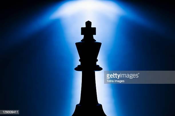 Illuminated king chess piece