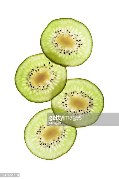 Illuminated Kiwifruit Slices