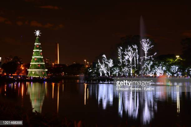 illuminated laje and trees at night - laje stock pictures, royalty-free photos & images