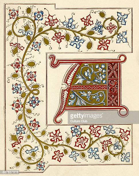 Illuminated Letter A From Les Merveilles Du Monde 1409